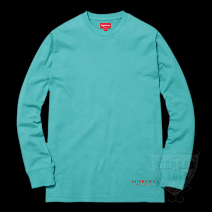 SS17 SUPREME DEPARTMENT L/S TEE TEAL S-XL 青 送料無料