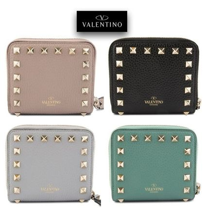 VALENTINO rock studded compact wallet /