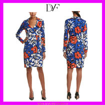 【DVF】一点もの★綺麗色シルク混NewJeanneTwoラップ ワンピ4号