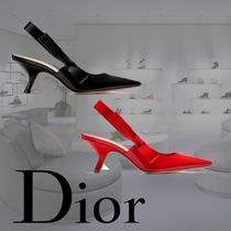 送料関税込☆2017SS Dior SLINGBACK IN PATENT CALFSKIN LEATHER