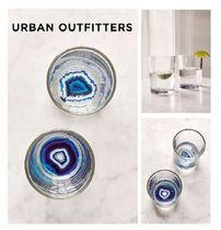 Urban Outfitters☆Geode Bottom Glasses Set☆グラス