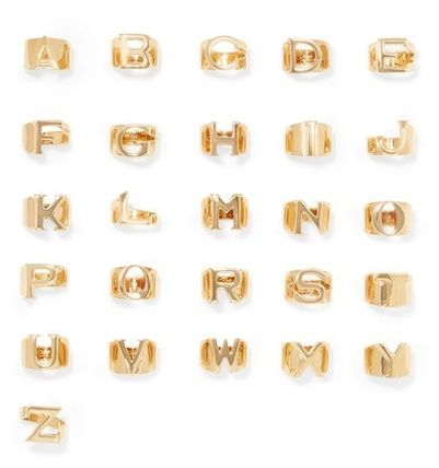 Chloe 指輪・リング ★関税負担★CHLOE★ALPHABET GOLD-TONE RING