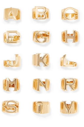 Chloe 指輪・リング ★関税負担★CHLOE★ALPHABET GOLD-TONE RING(2)