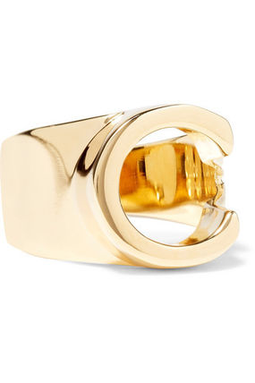 Chloe 指輪・リング ★関税負担★CHLOE★ALPHABET GOLD-TONE RING(4)