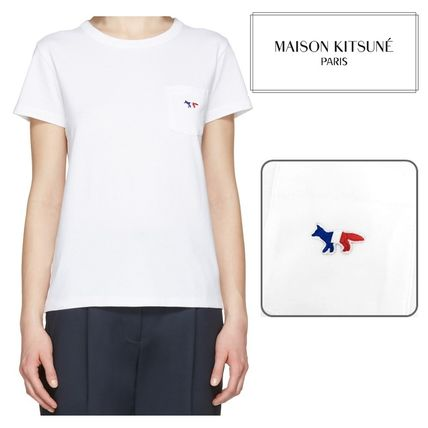 popular tricolor patch Maison KITSUNE Fox T shirts