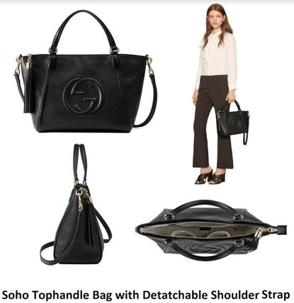 GUCCI★セール★SOHO TOPHANDLE WITH SHOULDER STRAP