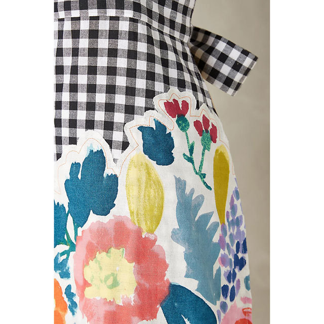Anthropologie Aprons Three-point set Anthropologie floral & check aprons, mitts, 3