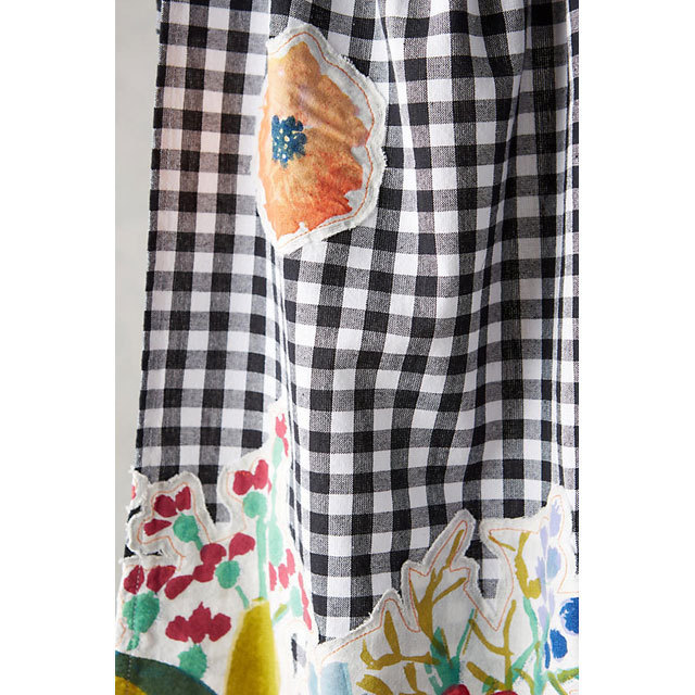 Anthropologie Aprons Three-point set Anthropologie floral & check aprons, mitts, 4