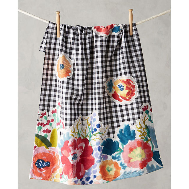 Anthropologie Aprons Three-point set Anthropologie floral & check aprons, mitts, 5