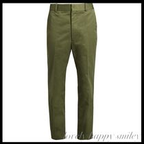 RUNWAY Straight-leg cropped trousers