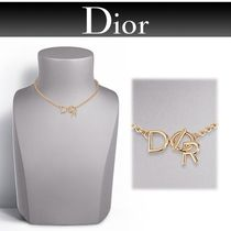 17SS Diorディオール LETTRE A DIORロゴショートネックレスGold