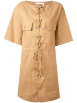 大人気☆SeeByChloe lace-up shift dress【関税・送料込】
