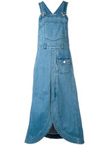 大人気☆SeeByChloe denim pinafore midi dress【関税・送料込】