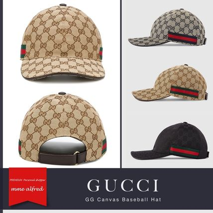 save off 3a981 9a07f GUCCI/グッチ★GGキャンバス ベースボール キャップ
