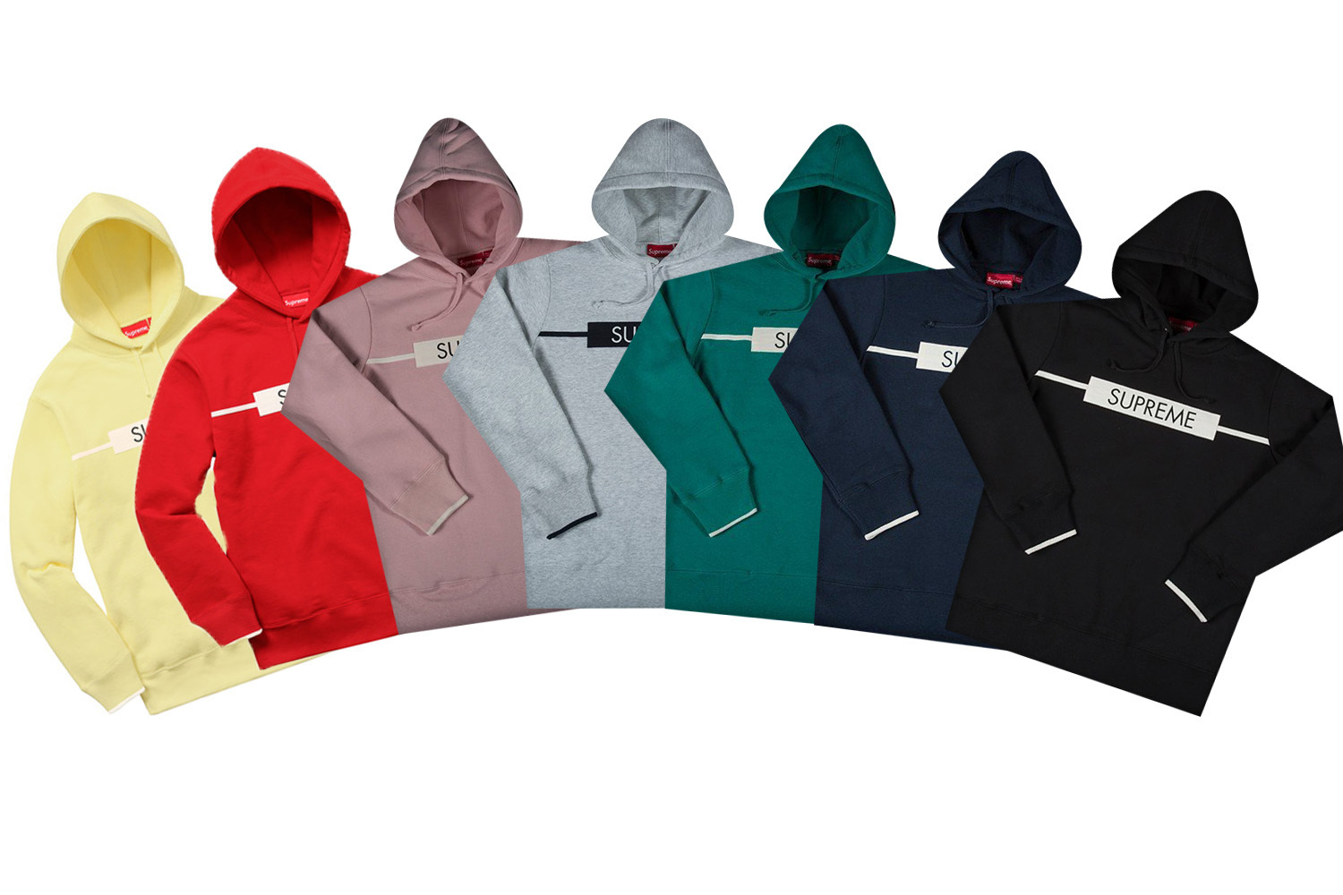 SUPREME17SS★CHEST TWILL TAPE HOODED SWEATSHIRT