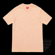 SS17 SUPREME OVERDYED POCKET TEE PEACH S-XL ピーチ 送料無料