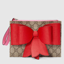 GUCCI(グッチ) キッズバッグ・財布その他 大人もOK☆全込【Gucci】GG Supreme bow wristlet