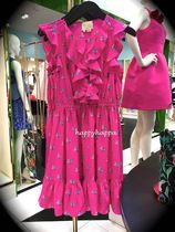 【kate spade】新作☆シルク100%hummingbird ruffle dress