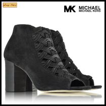 ★Michael Kors★ Westley Peep-Toe Suede Ankle ブーツ 関税込
