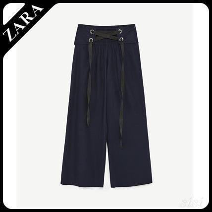 ZARA cropped corset belt with pants