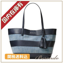 SALE 国内発送 Michael Kors Canvas Tasseled Large デニム