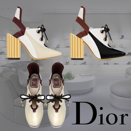 2017 CRUISE Dior LAMBSKIN LEATHER & CANVAS PUMP