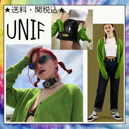 Hottest UNIF bright green short cardigan