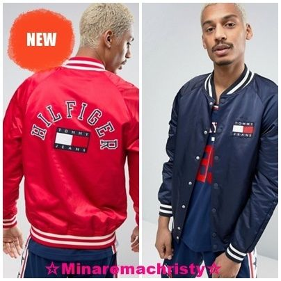 90 s Tommy Jeans logo on truck bomber jacket M11