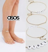 ASOS(エイソス) アンクレット ★送関込/正規品★ ASOS  Pack of 2 Vibes Anklet