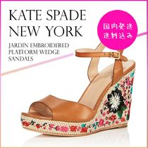 【国内発送】Jardin Embroidered Platform Wedge Sandalsセール