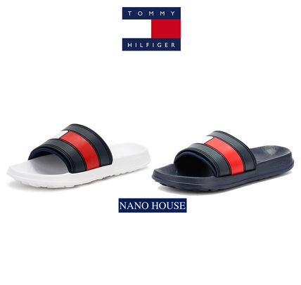 sold out Tommy Hilfiger Flag Flat Sandals W/N