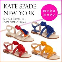 【国内発送】Sunset Tasseled Pom Pom Sandalsセール