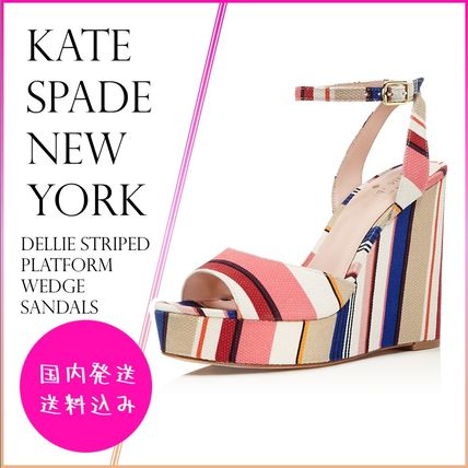kate spade new york サンダル・ミュール 【国内発送】DELLIE WEDGES SANDALSセール