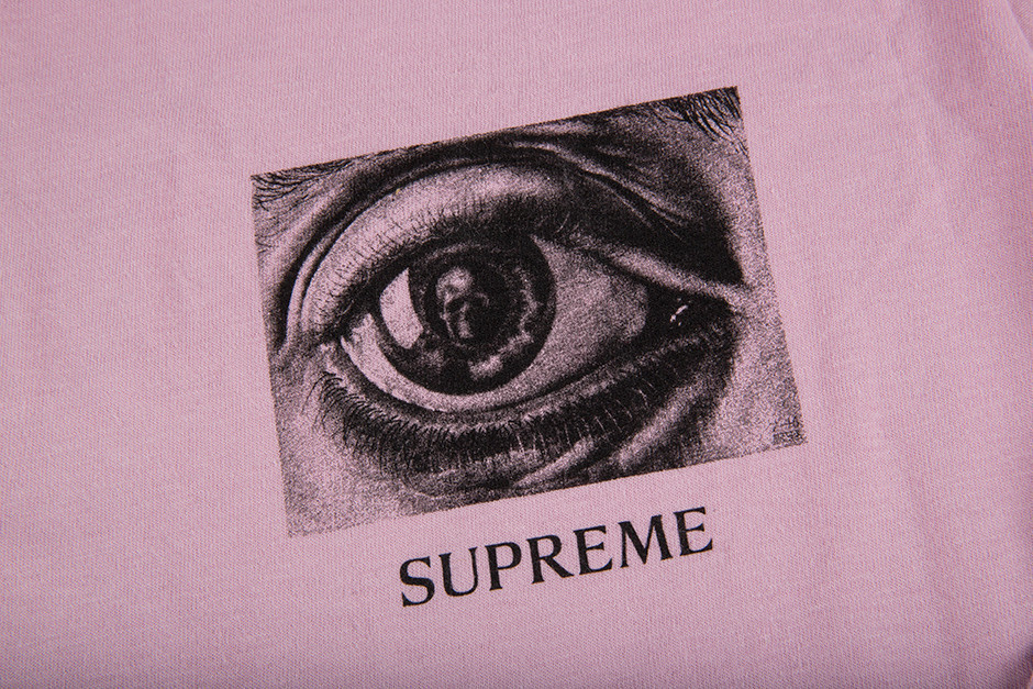 SS17 SUPREME M.C. ESCHER EYE L/S TEE PINK S-XL 送料無料