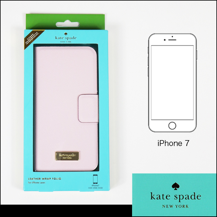 【国内在庫有】kate spade leather wrap folio iPhone7 ケース