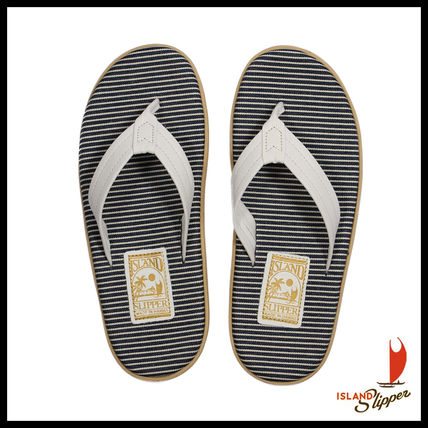 即発送料込☆人気☆Island slipper Fabric Insole Leather Strap