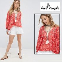 Free People Never a Dull Moment プリントブラウス