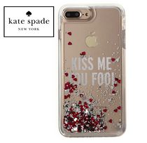 ★Kate Spade★Kiss Me You Fool キラキラハートiPhone7+ ケース