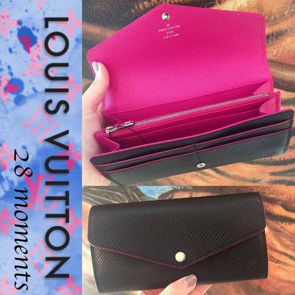 Louis Vuitton * long wallet * limited are EPI Black×pink