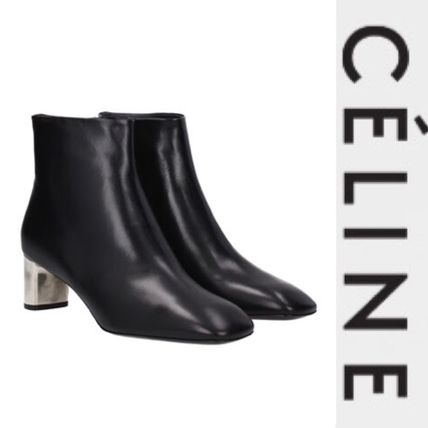 CELINE classy dress leather ankle boots