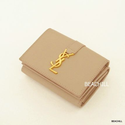 "«Safe» Saint Laurent compact wallet ""NUDE"""