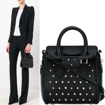 17SS AM209 FOLD-OVER TOP STUDDED SMALL HEROINE BAG