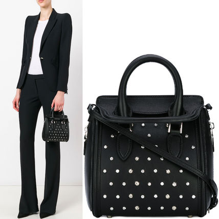 17th SS AM209 FOLD-OVER TOP STUDDED SMALL HEROINE BAG