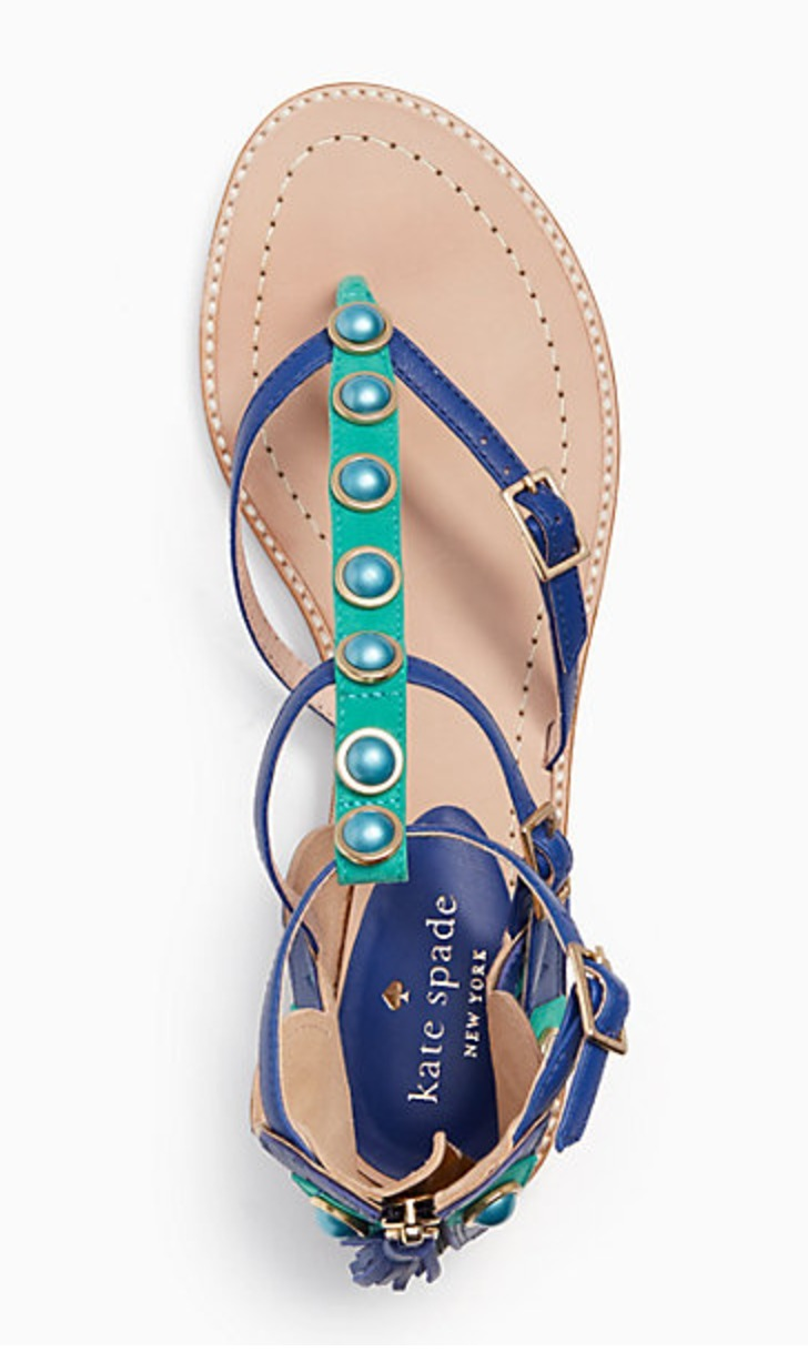 【kate spade】タッセル付き!孔雀モチーフ☆soto sandals