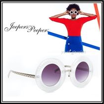 Jeepers Peepers(ジーパーズ ピーパーズ) サングラス 新作★Jeepers Peepers★サングラス★ラウンド&ホワイト