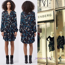 ★大変お買い得♪★即発DVF Lindi L/S Printed Shirtdress★