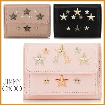 Jimmy Choo leather small wallet zips right