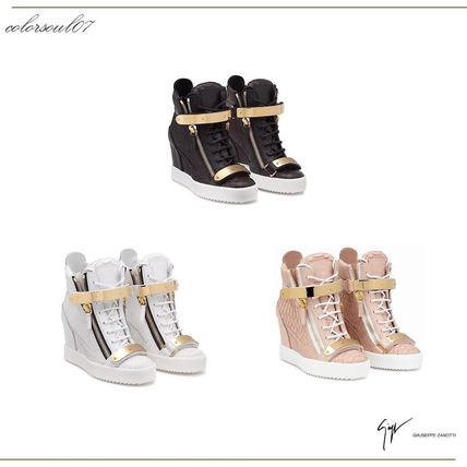 GIUSEPPE ZANOTTI JENNIFER / metal band wedge sneakers