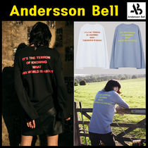 ANDERSSON BELL(アンダースンベル) Tシャツ・カットソー Andersson Bell★SLIT PRINTED L/S T-SHIRT 3色
