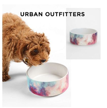 Urban Outfitters☆DENY Yin-Tang Painted Clouds Pet Bowl Set